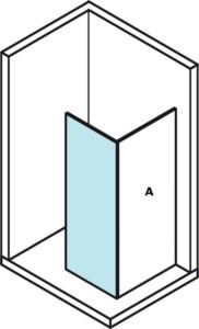 Стеклянная стенка для установки на стену, 800 мм
