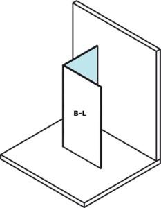 Стеклянная панель для установки на стену модулей MS2, 300 мм, левый