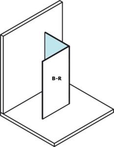 Стеклянная панель для установки на стену модулей MS2, 400 мм, правый