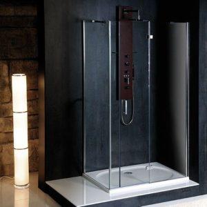 1200x800mm, правая, жесткий угол, прозрачное стекло