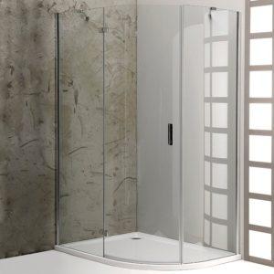 1200x900mm, R550,левая,овал, прозрачное стекло