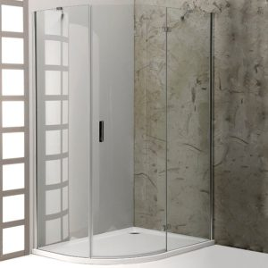 1200x900mm, R550,правая,овальная, прозрачное стекло