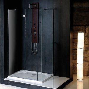 1400x800mm, левая, прозрачное стекло