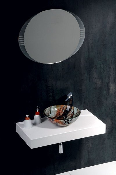Чешские стеклянные умывальники коллекция BEAUTY
