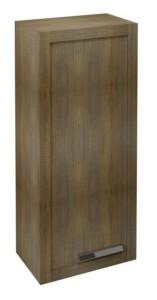 ШКАФЧИК 40x90x25cm, левый, графитовый туб