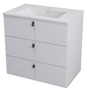 ТУМБА С УМЫВАЛЬНИКОМ 74,5x70x45,2 см, белый