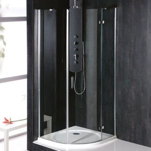 800x800mm, R550,правая,овальная., прозрачное стекло