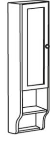 RETRO ШКАФЧИК 25x115x20cm, белый состаренный, левая