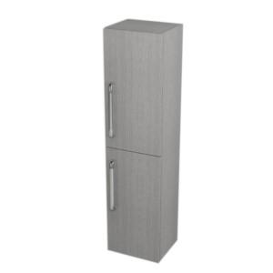 ШКАФЧИК с корзиной, 35x140x30cm, правая, дуб серебряный