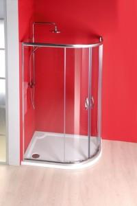 душ экран 1000x800 мм, R550, 2 двери L R, прозрачное стекло