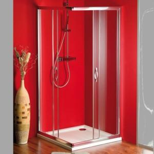 душ экран 900x900 мм, прозрачное стекло