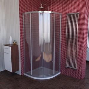душ экран, 900x900mm, R550, прозрачное стекло