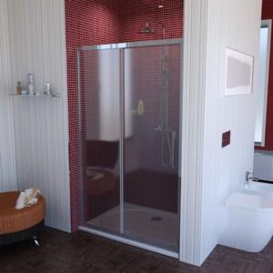 душевая дверь 1400mm, прозрачное стекло