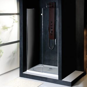 душевая дверь 800 мм, левый, прозрачное стекло