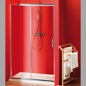душевые двери раздвижные 1300 мм, прозрачное стекло
