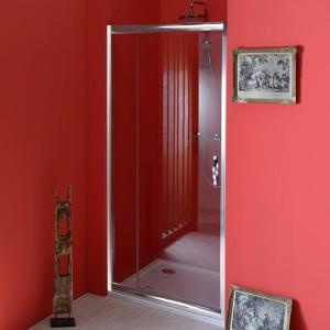 двери распашные 900-1040mm, прозрачное стекло