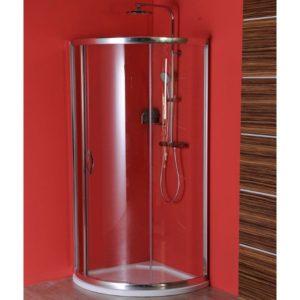 экран 800x800 мм, R590, 1 дверь, L R, прозрачное стекло