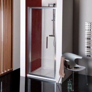 складные душевые двери 800 мм, прозрачное стекло