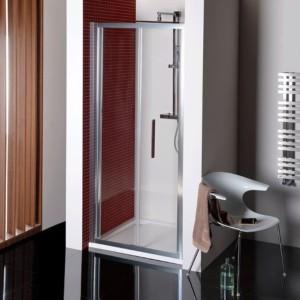 складные душевые двери 900мм, прозрачное стекло