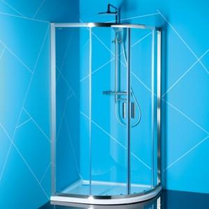 душевая кабина 900x800mm, прозрачное стекло