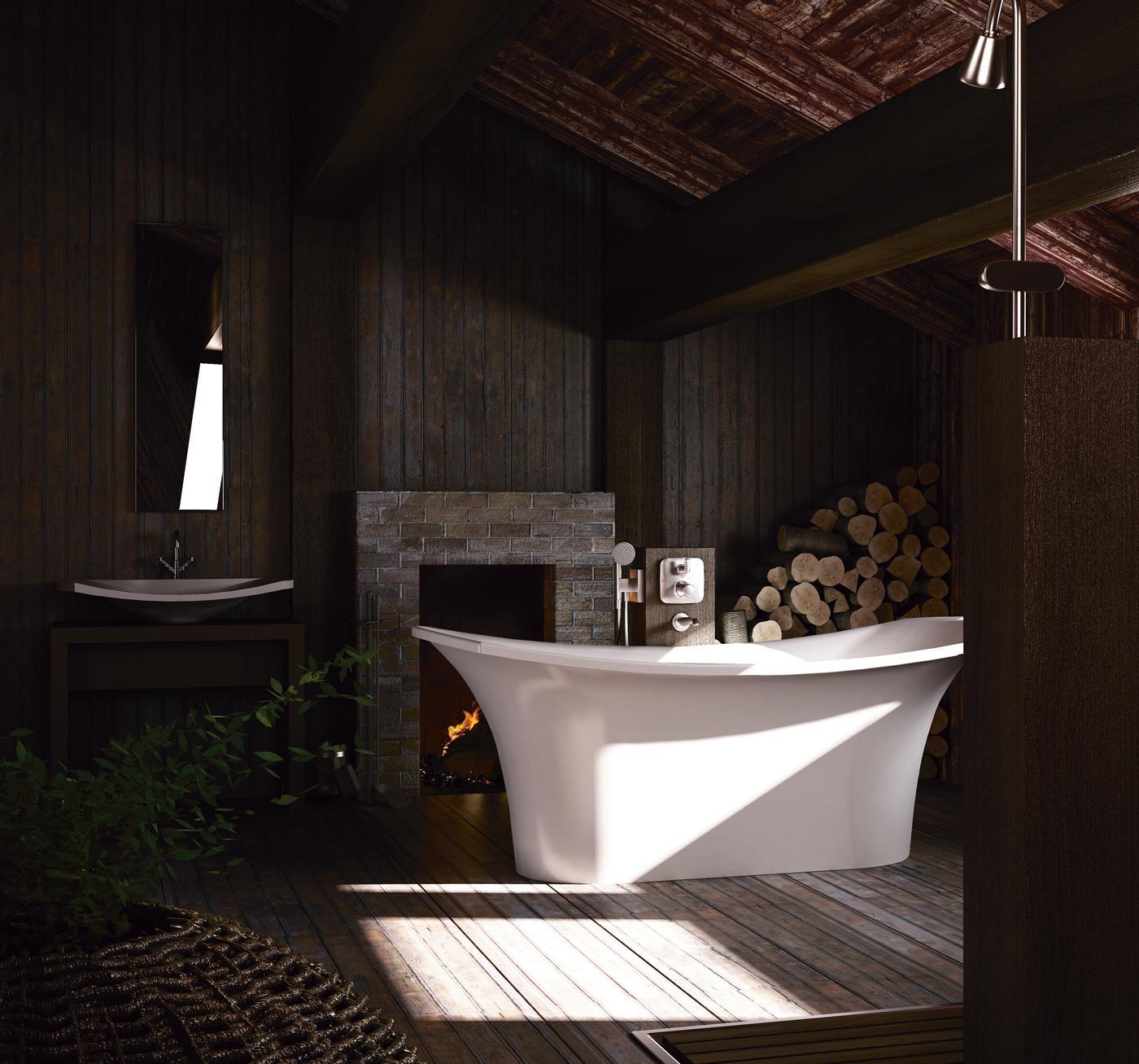 Латвийская ванна из камня PAA коллекция BEL CANTO