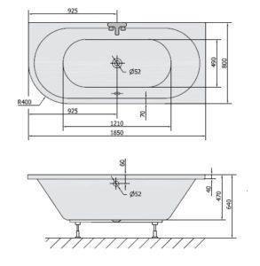 VIVA 185x80x47 cm R