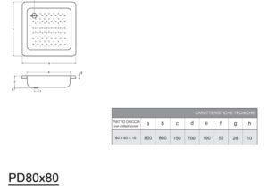 Enameled 80x80х16 cm