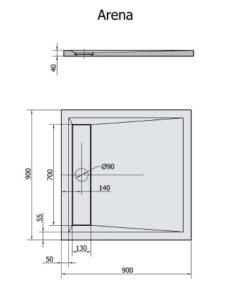 ARENA 90x90x4 cm