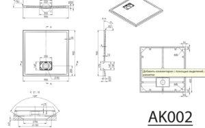 ATIKA 90x90x3,5 cm