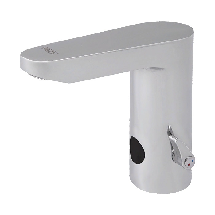Смеситель с инфракрасным датчиком для холодной и горячей воды с механическим рычагом