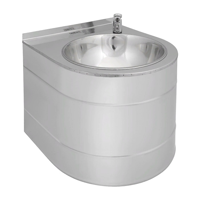 Питьевой фонтан из нержавеющей стали подвесной 38,5 х 33,5 см с нажимной подачей воды