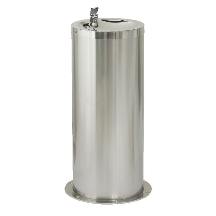 Питьевой фонтан из нержавеющей стали напольный диаметр 42 см с встроенной инфракрасной электроникой