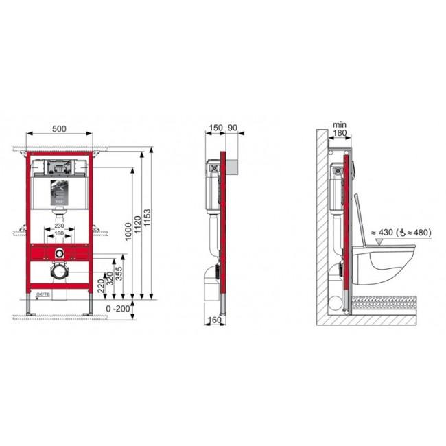 Система инсталляции для унитаза