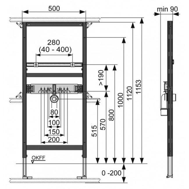 Система инсталляции для раковины