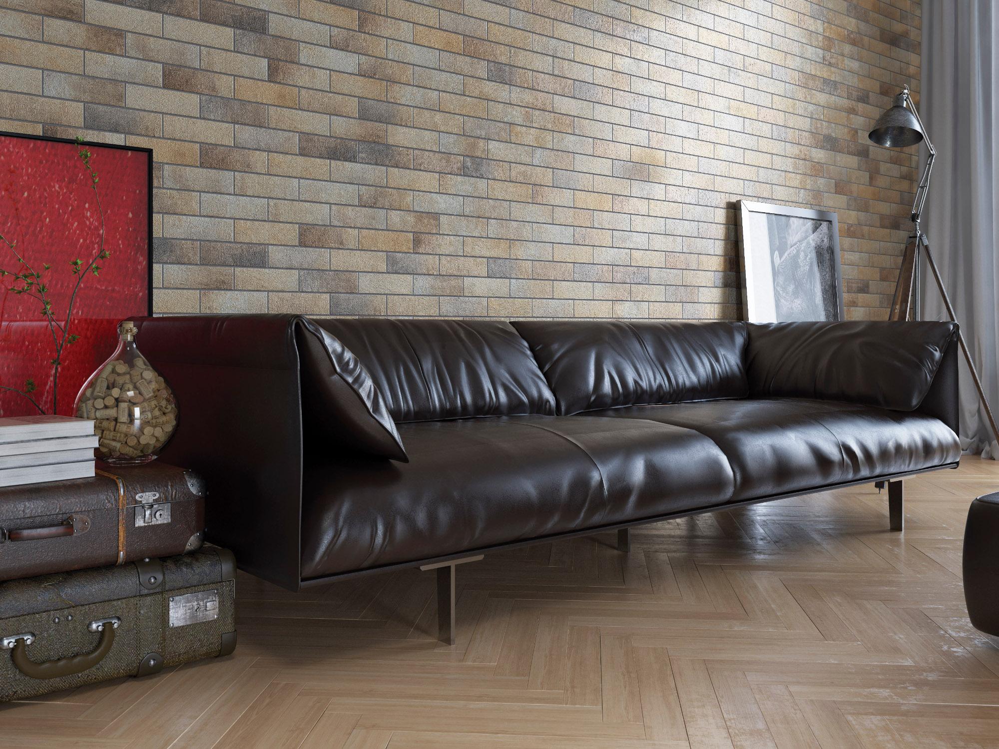 плитка фасадная польская фабрика Cerrad коллекция Loft Brick Masala