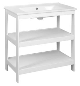 Шкафчик под умывальник 81,5x85x44 см, белый матовый