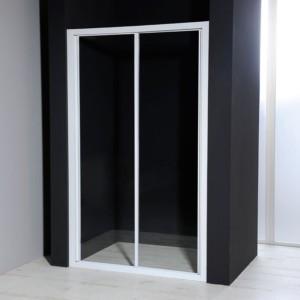 Душевые двери раздвижные, прозрачное стекло, 1000 мм