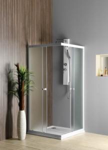 Квадратная душ кабина 800x800 мм, стекло BRICK