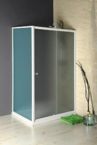 раздвижные душевые двери 1100 мм, стекло BRICK