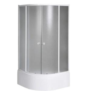 Угловая душ кабина 800x800x1500 мм, стекло BRICK