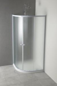 Угловая душ кабина 900x900 мм, матовое стекло Brick