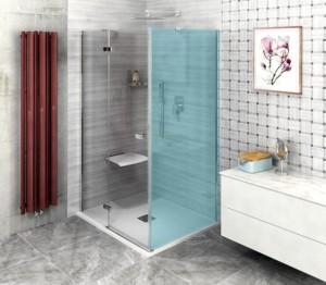 Душевые двери 1400mm, прозрачное стекло, левая