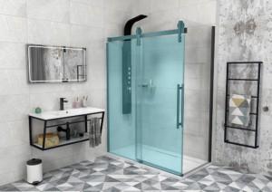 VOLCANO BLACK боковая стенка 800 мм, прозрачное стекло
