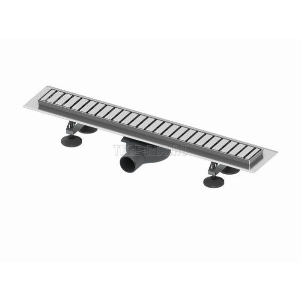 """Комплект TECElinus для монтажа дренажного канала с декоративной решеткой """"straight"""""""