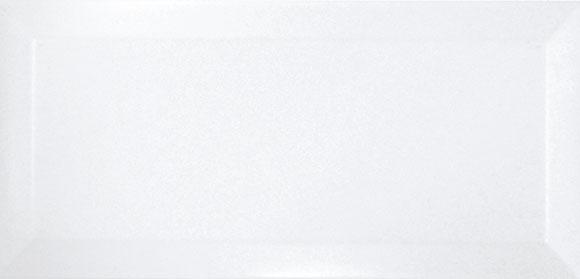 BLANCO BISELADO BRILLO 10x20