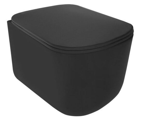 Подвесной унитаз Kerasan TRIBECA black matt