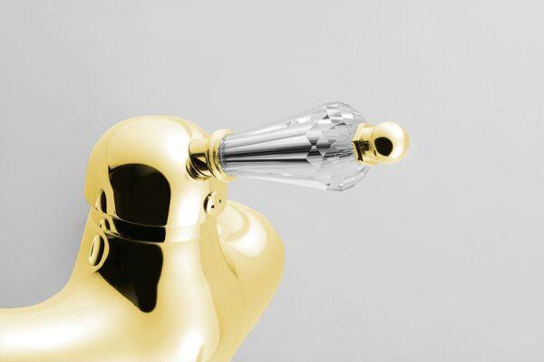 Смеситель для умывальника Sapho (Чехия) - KIRKÉ CRYSTAL gold