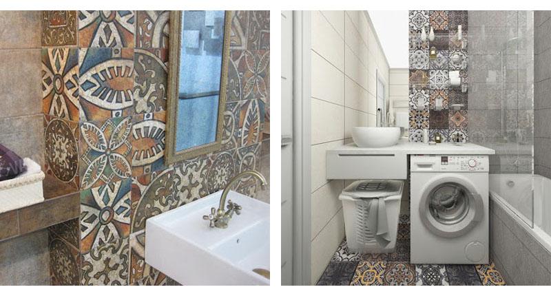 Ванная комната в этническом стиле