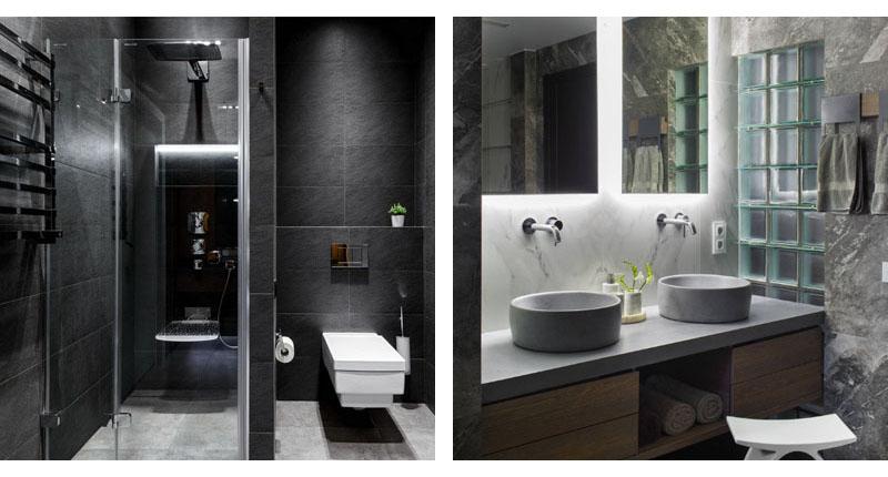 Ванная комната в стиле хай-тек