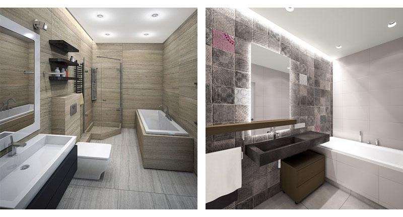 Ванная комната в минималистичном стиле